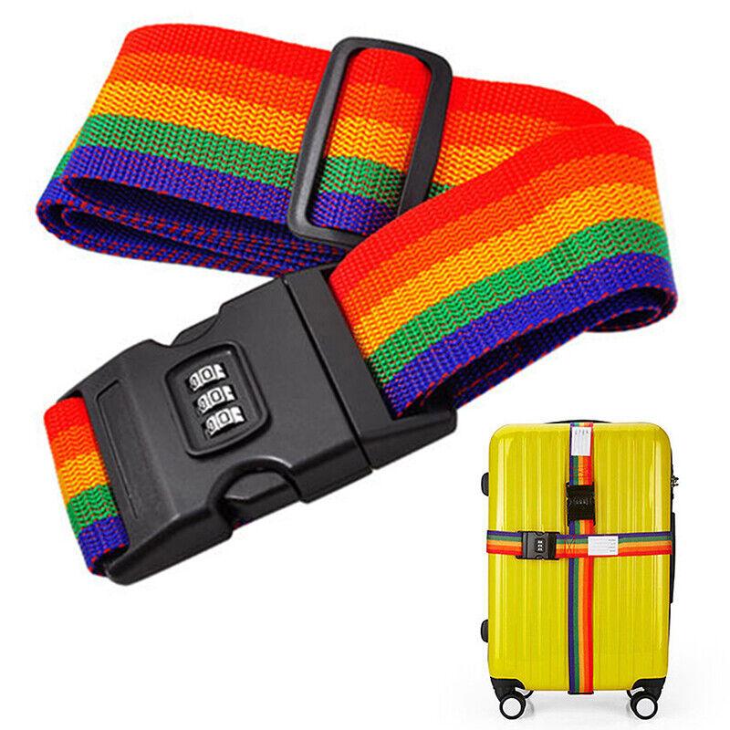 Adjustable Personalise Travel Luggage Suitcase Lock Safe Belt Strap Baggage Tie 2