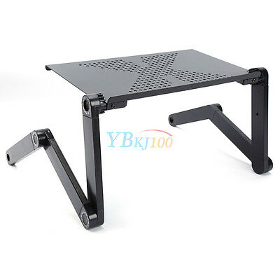 Portable Laptop Computer Stand Desk Table Tray On Bed Mouse Holder Adjustable AU