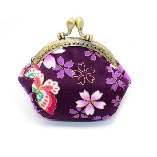 Collectable Handmade Japanese Style Fans Clasp Coin Purse Bag Change Wallets G 11