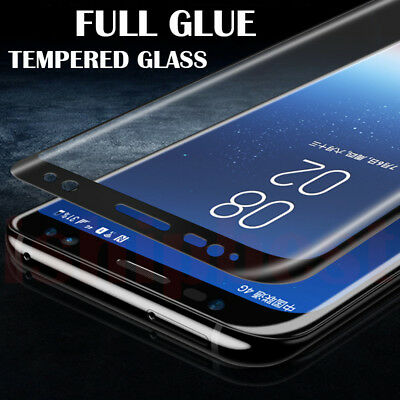 6D Samsung Galaxy S9+ S8 Plus Note 8/9 Tempered Glass Full Glue Screen Protector 6