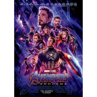 Avengers 4 & 3 Infinity War Movie Thanos Iron Man Kraft Paper Posters Picture 2