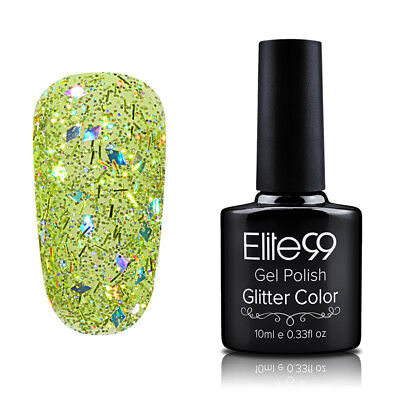 Elite99 Diamond Esmalte Semipermanente Glitters Uñas en Gel UV LED Top Base Coat 6