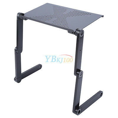 Adjustable Portable Laptop Computer Stand Desk Table Tray On Bed Mouse Holder AU