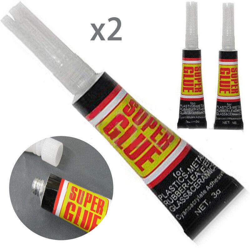 6/12pcs Super Glue Colle Rapide Adhésif Extra-Forte Cyanoacrylate Plastique Cuir 2