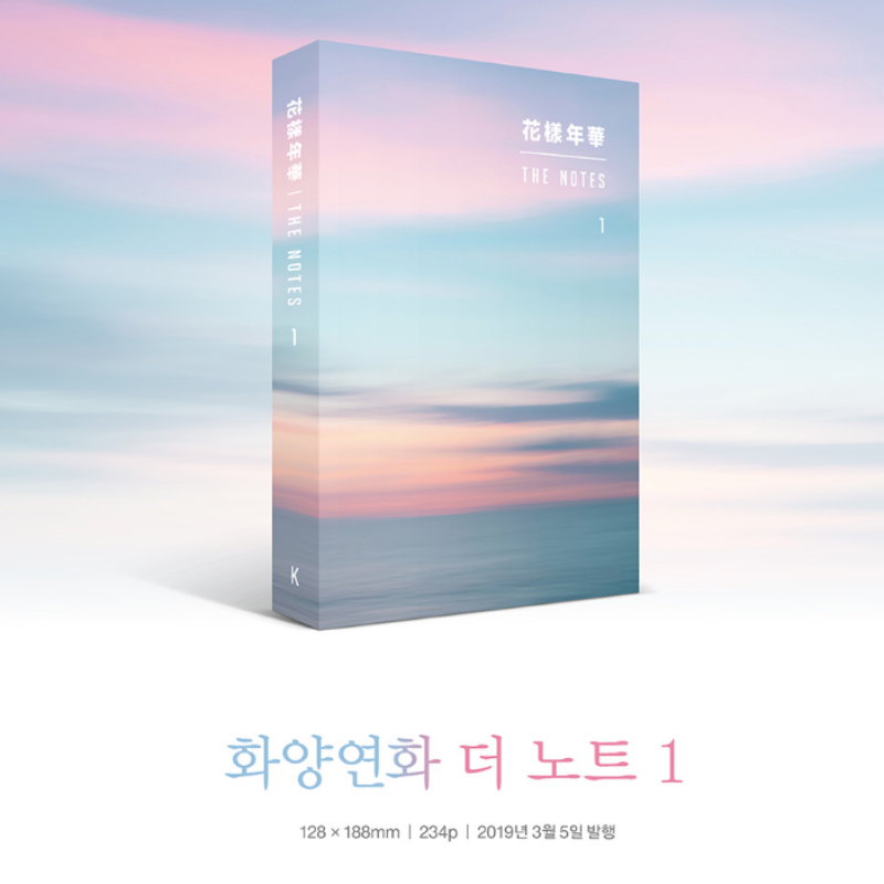 BIG HIT Entertainment -  BTS 花樣年華 THE NOTES BOOK Korean, English, Japanese Ver. 3