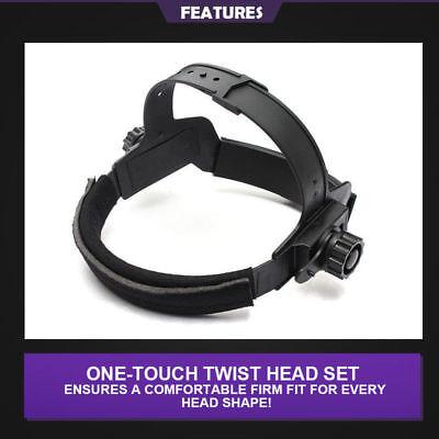 Pro Solar Auto Darkening Welding Helmet Arc Tig Glossy Black Mask 9