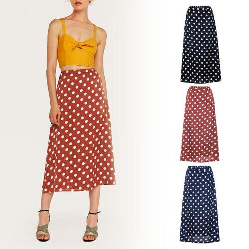 e7d4749061407f FEMME RONDE POINT Taille Haute Demi-Jupe Fendue Plage Printemps Été Mode  Vintage