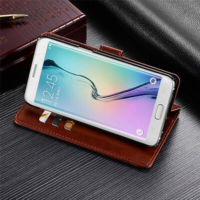 For Samsung Galaxy J3 J5 J7 2017 A8 2018 Magnetic Flip Leather Wallet Case Cover 2