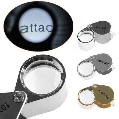4sizes Triplet Jeweler Eye Loupe Magnifier Magnifying Glass Jewelry Diamond+Box 2