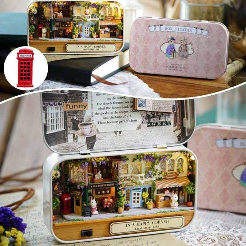 DIY Dollhouse Miniature 3D Doll House Kit Box Theatre Handcraft Kids Xmas Gift 2