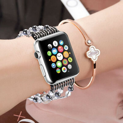 For Apple Watch Series 5 4 44MM Bling Agate Beads Strap Bracelet Band iWatch 2 3 8