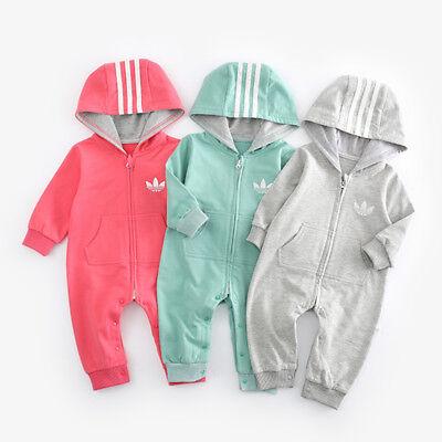 Top Baby Kids Boy Girl Infant Romper Jumpsuit Bodysuit Cotton Clothes Outfit Set 2