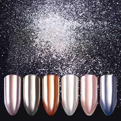 BORN PRETTY Mirror Effect Shiny Silver Nail Art Powder Chrome Pigment Dust Decor 8