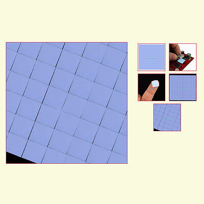 100Pc 10x10x1mm Silicons Chip Thermal Pads Heatsink Conductive Insulations Pa JF