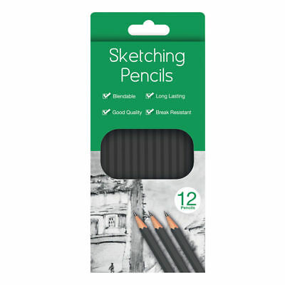 Water Colour Charcoal Sketching Pencils Drawing Set of School HB Artist Colour 3