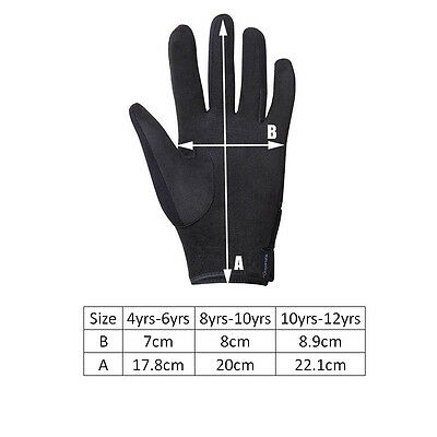Children Riding Protective Gloves Skidproof Horse Riding Accessories 6yrs-14yrs