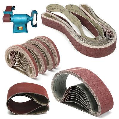 Various Size Sanding Belt 36~1000 Grit Abrasive Belts Metal Wood Polishing Tool 2