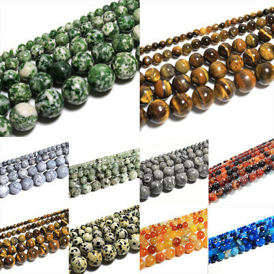 Wholesale Natural Matte Gemstone Round Spacer Loose Beads 4mm 6mm 8mm 10mm 12mm 6