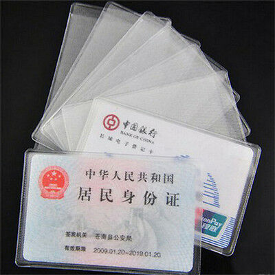 10X PVC Credit Card Holder Protect ID Card Business Card Cover Clear FrosteUULK 4