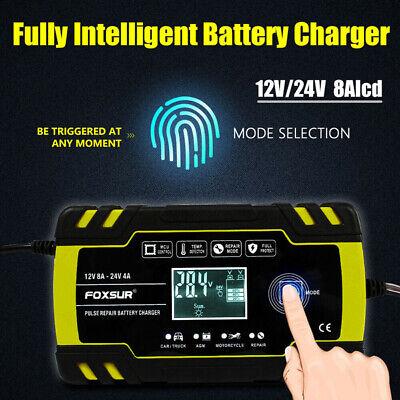 8 Amp Intelligent Car Battery Charger Pulse Repair Starter 12V/24V AGM/GEL UK 3