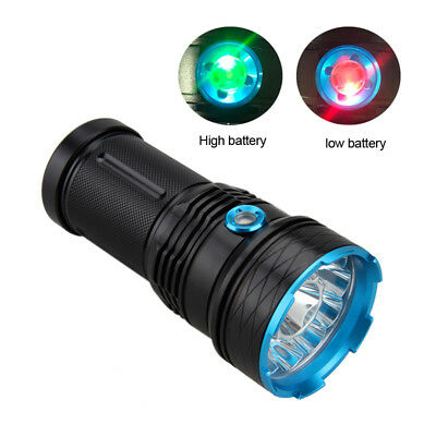 Super Hell 50000LM 12x XML T6 LED Fackel Taschenlampe Licht 18650 Akku Lampen JJ