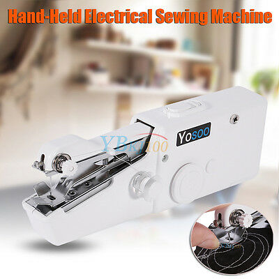 Hand Held Sewing Machine Portable Electric Stitch Mini Cordless Fabric Battery 12