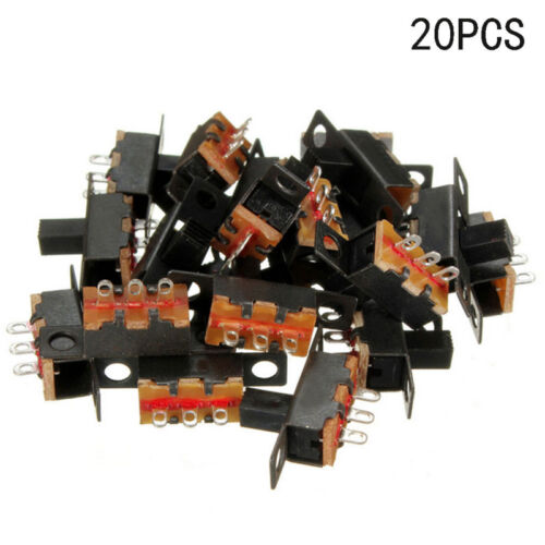 40pcs Black Small Size SPDT Slide Switch On-Off 3-Pin PCB 5V 0.3A DIY Projects. 9
