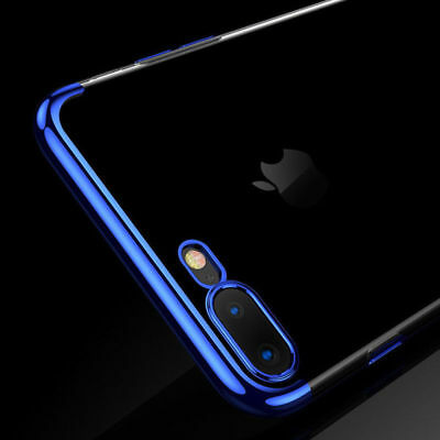 For iPhone X 8 7 6S Plus Case Electroplate Silicone Ultra Slim Clear Soft Cover 2