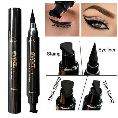 Winged Eyeliner Seal Stamp Black Cat Eye Double Head Eyeline Pen Makeup Tool 2
