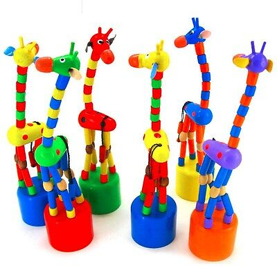 Wooden Gift Cute Kid Intellectual Early Educational Learning Animal Giraffe Toys 5