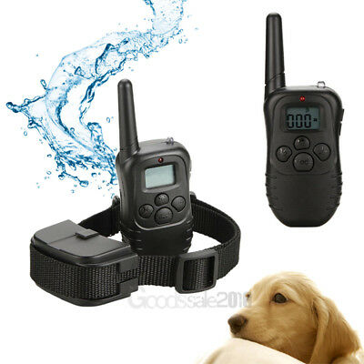 Waterproof 1000 Yard 2 Dog Shock Training Collar Pet Trainer with Remote Battery 5
