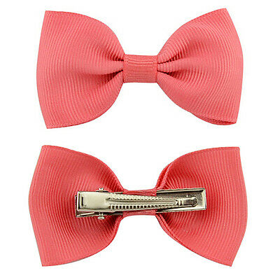 20X Hair Bows Band Boutique Alligator Clip Grosgrain Ribbon For Girl Baby Kid LD 3