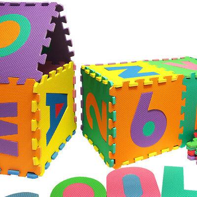Puzzle tapis mousse 86 pièces Alphabet et chiffres 32x32 cm Tapis de jeu enfants 7