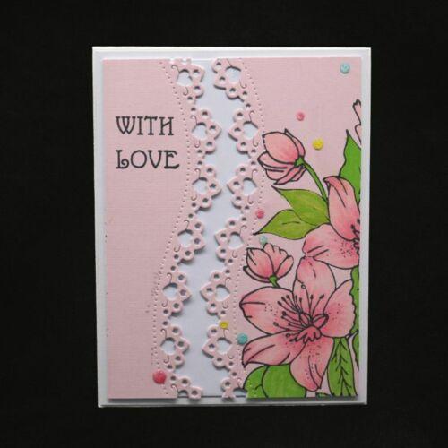 2pcs Lace Cutting Dies DIY Stencil Scrapbooking Album Paper Card Embossing Craft 9