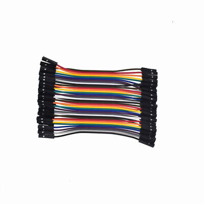120pcs 10cm 2.54mm 1pin Jumper Wire Dupont Cable for Arduino 2