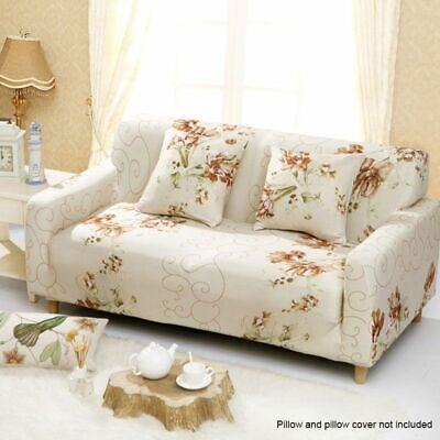 1/2/3 Sofa Covers Couch Slipcover Stretch Elastic Fabric Settee Protector Fit UK 6