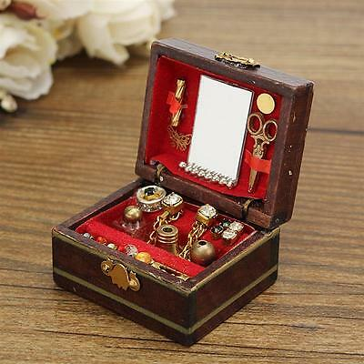 1/12 Dollhouse Miniatures Jewelry Box /Doll Room Decor House Accessory 2