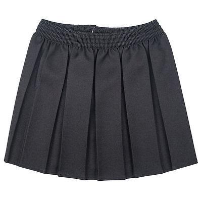 Girls School Uniform Box Pleated Elasticated waist school kids Skirt All Ages 2