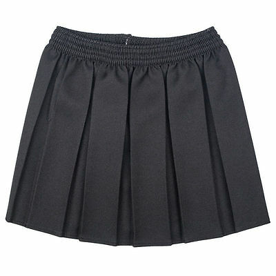 New Girls School  Box Pleated Elasticated Waist Skirt Kids School Uniform 2