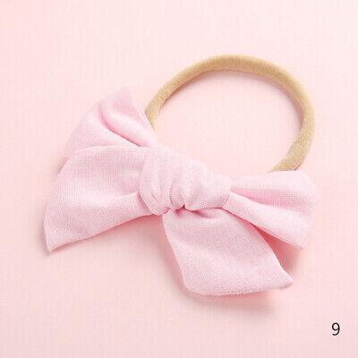 Baby Kids Toddler Soft Cotton Bow Tie Ring Nylon Headband Girls Hair Accessories 10