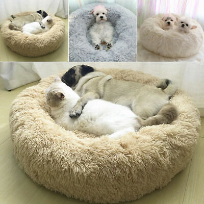 Comfy Calming Dog Bed Cat Bed Round Super Soft Plush Pet Bed Marshmallow Cat Bed 2
