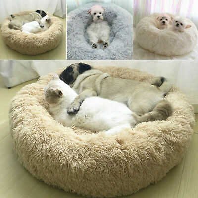 UK Comfy Calming Dog/Cat Bed Round Super Soft Plush Pet Bed Marshmallow Cat Bed 3