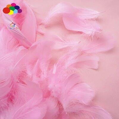 100pcs Natural Goose Feathers 8-12 Cm Swan Plume DIY Carnival Decoration Craft 2
