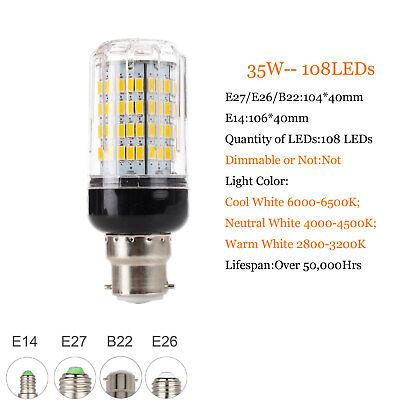 E27 E14 B22 LED Mais Birne 5730 SMD 9W 12W 15W 20W 25W 30W 35W Helle weiße Lampe 11