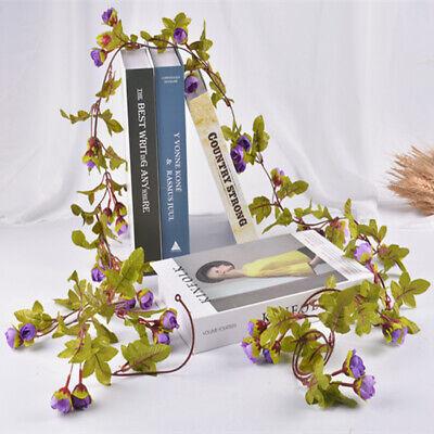 Cute 7Ft Artificial Fake Silk Rose Flower Hanging Garland Garden Wedding Decor 7