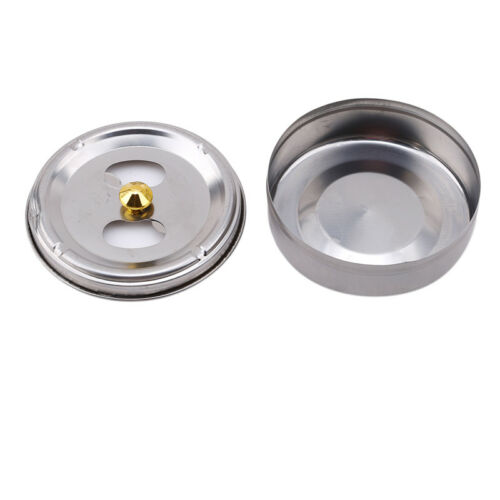 Portable Stainless Steel Ashtray Lid Rotation Cigarette Smoking Ash Holder Small 5