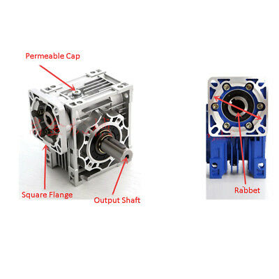 Worm Gear Reducer Speed Ratio 10:1 15:1 30:1 NMRV030 56B14 for Stepper Motor 7