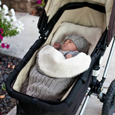Newborn Baby Infant Knit Swaddle Wrap Swaddling Blanket Warm Sleeping Sack Bag 2