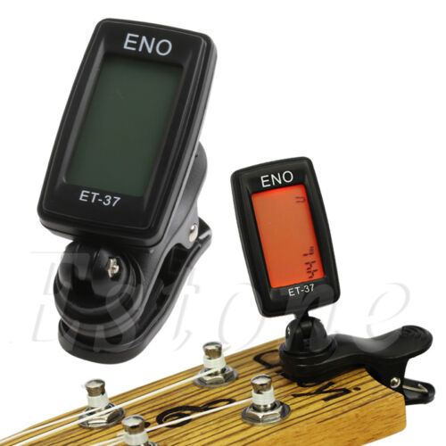 Digital LCD Chromatic Electric Guitar Clip On Tuner Acoustic Bass Violin Ukulele 3