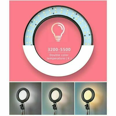 LED Ring Light Dimmable 5500K Lamp Photography Camera Photo Studio Phone Video 6